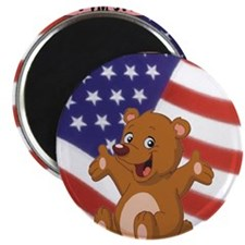 "Love my country 2.25"" Magnet (100 pack)"