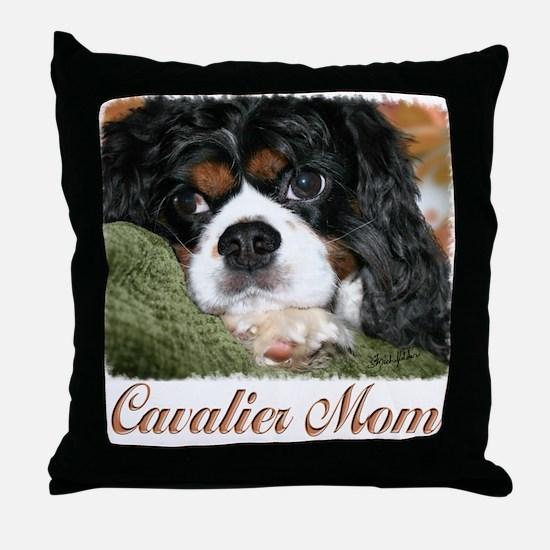 Cavalier Mom Throw Pillow
