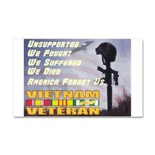 Unsupported Vet Car Magnet 20 x 12