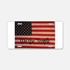 WE THE PEOPLE WITH FLAG OF FR Aluminum License Pla