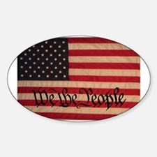 WE THE PEOPLE WITH FLAG OF FR Sticker (Oval)