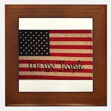 WE THE PEOPLE WITH FLAG OF FR Framed Tile