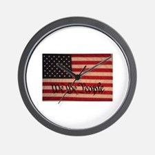 WE THE PEOPLE WITH FLAG OF FR Wall Clock