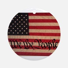 WE THE PEOPLE WITH FLAG OF FR Ornament (Round)