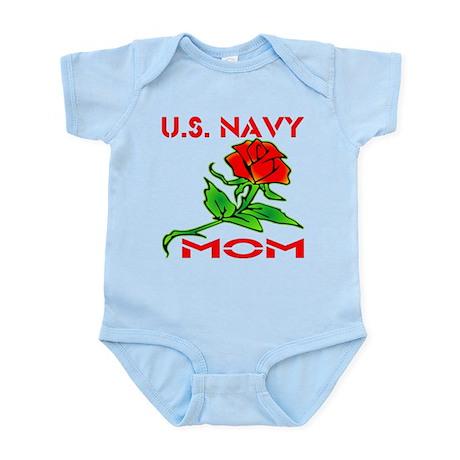 U.S. Navy Mom w/ Rose Infant Bodysuit