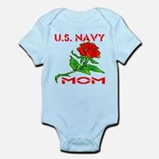 U.S. Navy Mom w/ Rose Infant Bodysuit