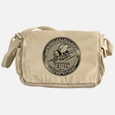 USN Navy Seabees Can Do Metal Messenger Bag
