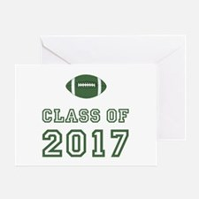 Class Of 2017 Football Greeting Card