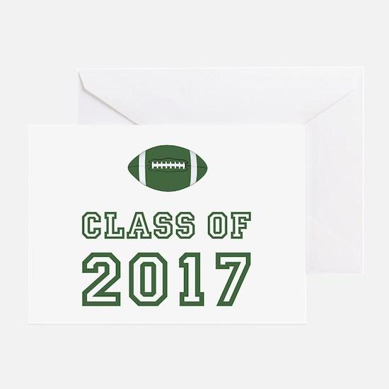 Class Of 2017 Football Greeting Card