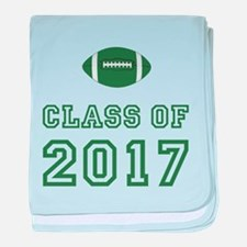 Class Of 2017 Football baby blanket