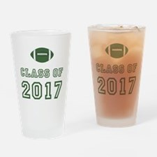 Class Of 2017 Football Drinking Glass