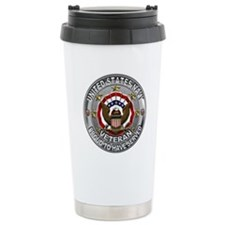 USN Navy Veteran Proud Eagle Travel Mug
