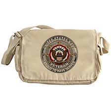USN Navy Veteran Proud Eagle Messenger Bag