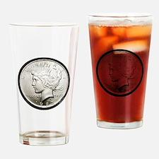 Peace Dollar Drinking Glass