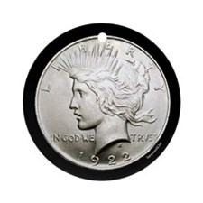 Peace Dollar Ornament (Round)
