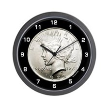Peace Dollar Wall Clock