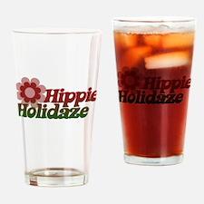 Hippie Holidays Drinking Glass