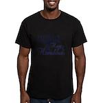 Happy Hanukkah Men's Fitted T-Shirt (dark)