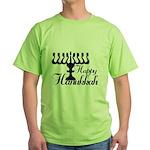 Happy Hanukkah Green T-Shirt