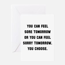 Sore Or Sorry Greeting Card