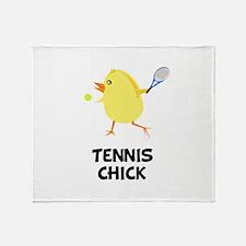 Tennis Chick Throw Blanket