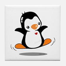 Happy Penguin (2) Tile Coaster