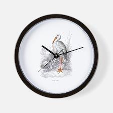 White Stork Bird Wall Clock