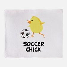 Soccer Chick Throw Blanket