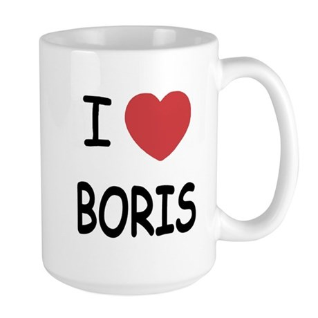 I heart boris Large Mug