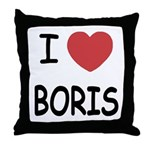 I heart boris Throw Pillow