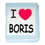 I heart boris baby blanket