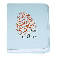 Aslan Is Christ baby blanket