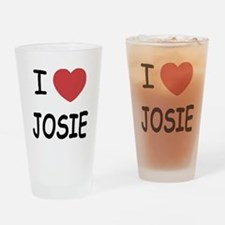 I heart josie Drinking Glass