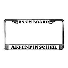 K9 On Board Affenpinscher License Plate Frame