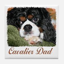 Cavalier Dad Tile Coaster