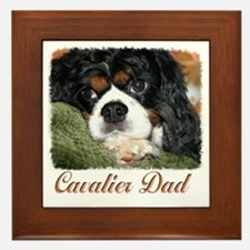 Cavalier Dad Framed Tile