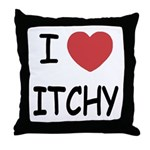 I heart itchy Throw Pillow