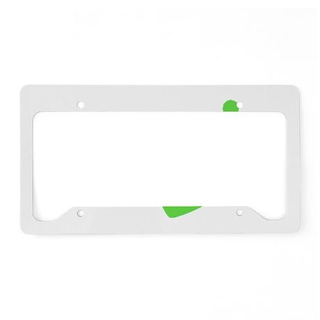 Green Wakeboard Nose Grab License Plate Holder