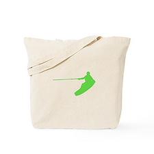 Green Wakeboard Nose Grab Tote Bag