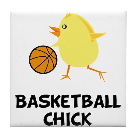 Basketball Chick Tile Coaster