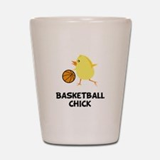 Basketball Chick Shot Glass