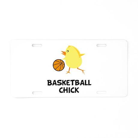 Basketball Chick Aluminum License Plate