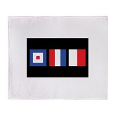WTH Nautical Flags Throw Blanket