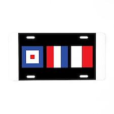 WTH Nautical Flags Aluminum License Plate