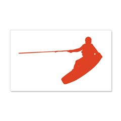 Red Wakeboard Nose Grab 22x14 Wall Peel