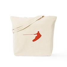 Red Wakeboard Nose Grab Tote Bag