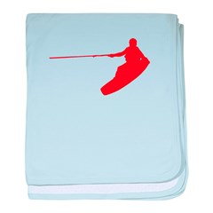 Red Wakeboard Nose Grab baby blanket
