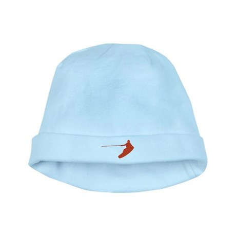Red Wakeboard Nose Grab baby hat