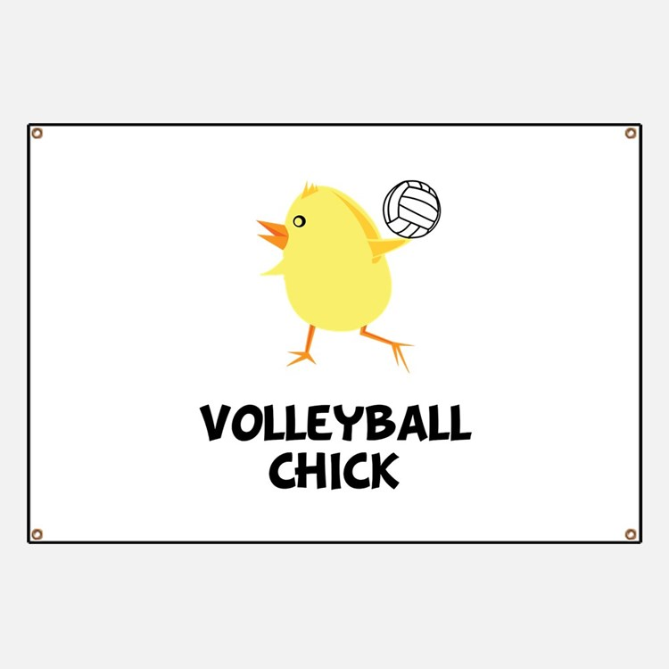 Volleyball Chick Banner