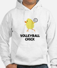 Volleyball Chick Hoodie